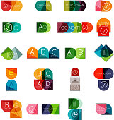 Collection of semicircle infographic tempaltes for business background