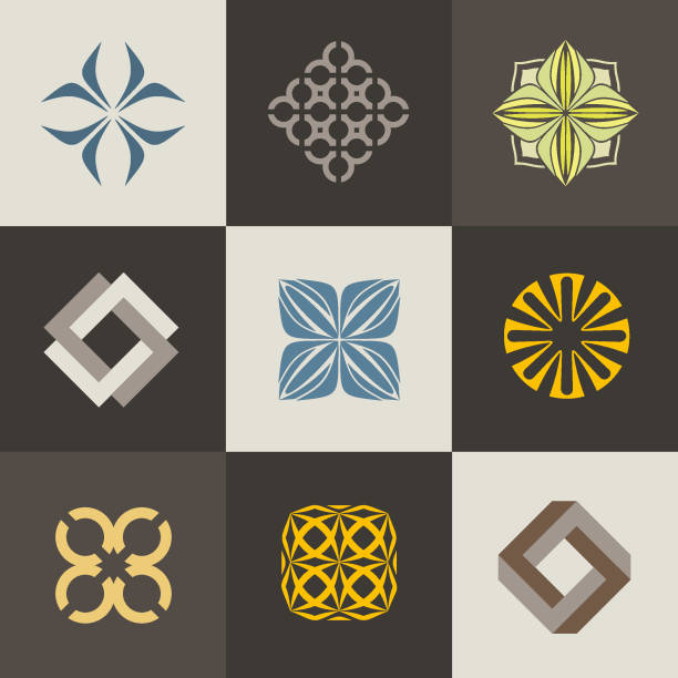 A collection of signs icons for interior, furniture shops, companies make furniture, decor items and home decoration. Set 1 A collection of signs icons for interior, furniture shops, companies make furniture, decor items and home decoration. interior designer stock illustrations