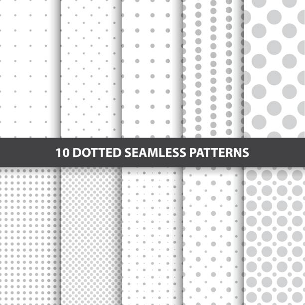 collection of simple seamless dotted patterns. - spotted stock illustrations, clip art, cartoons, & icons