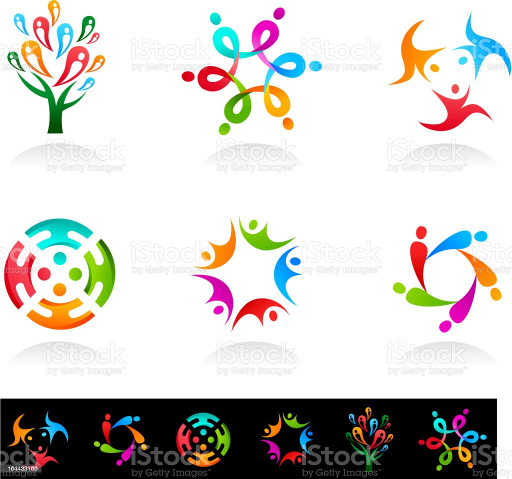 collection of social network icons vector art illustration