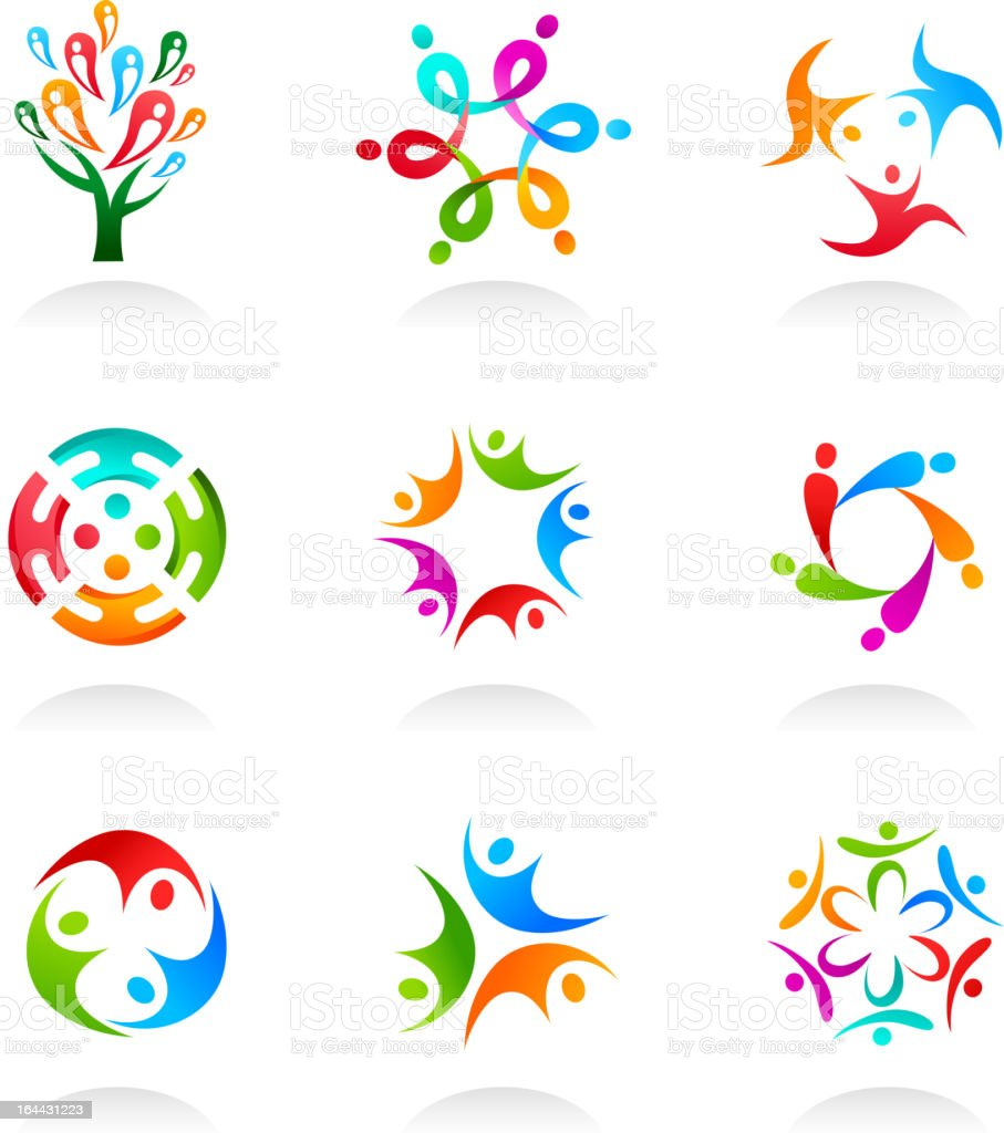 collection of sotial network icons vector art illustration