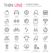 Collection of sport thin line icons. Vector eps10