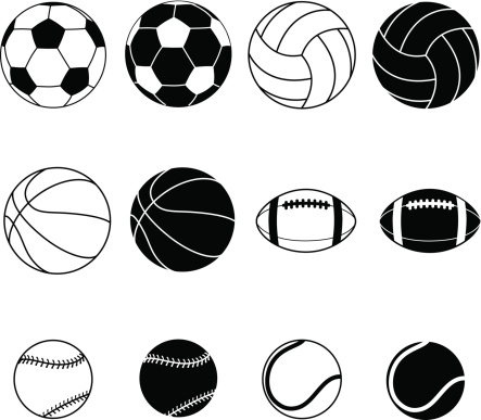 Collection Of Sports Balls Vector Illustration