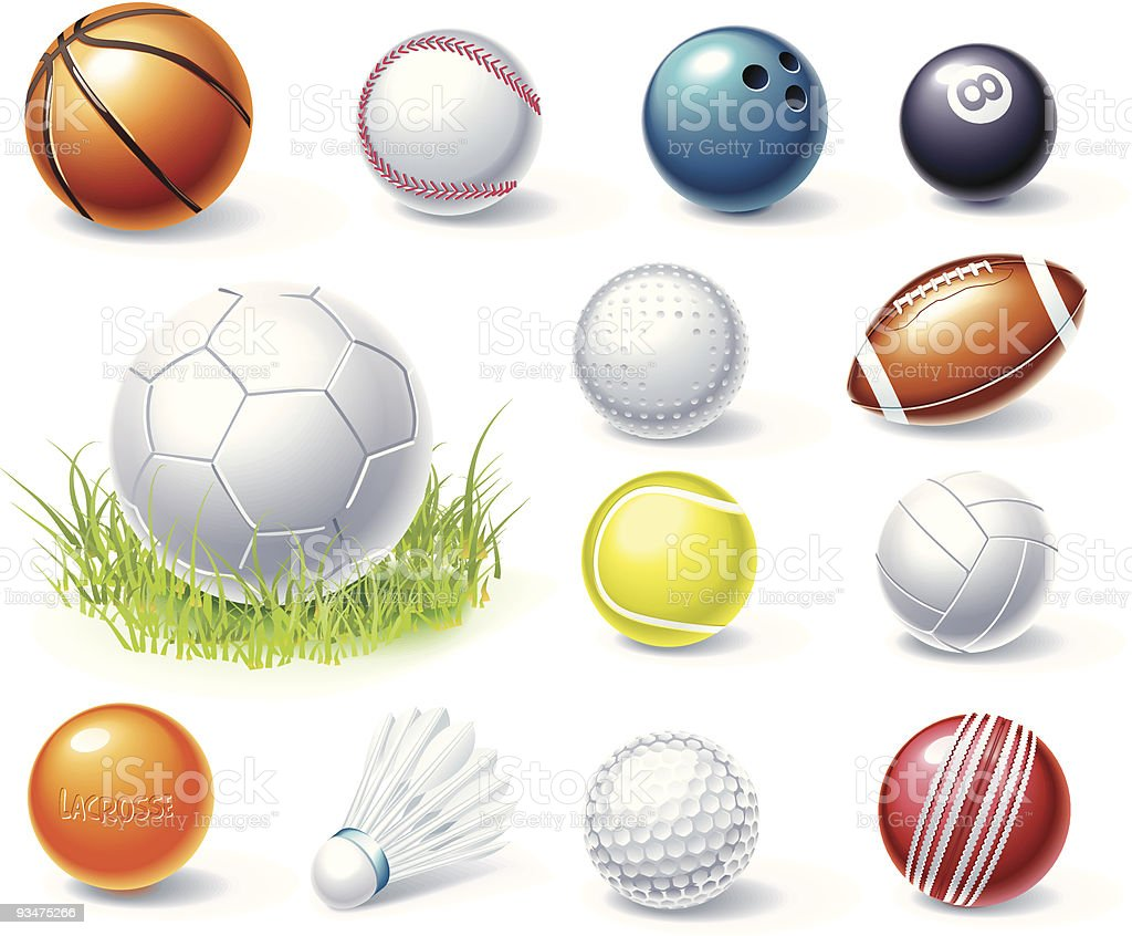 Collection of sports equipment graphics royalty-free collection of sports equipment graphics stock vector art & more images of american football - ball