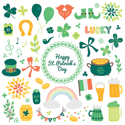 Collection of St. Patrick's Day design elements