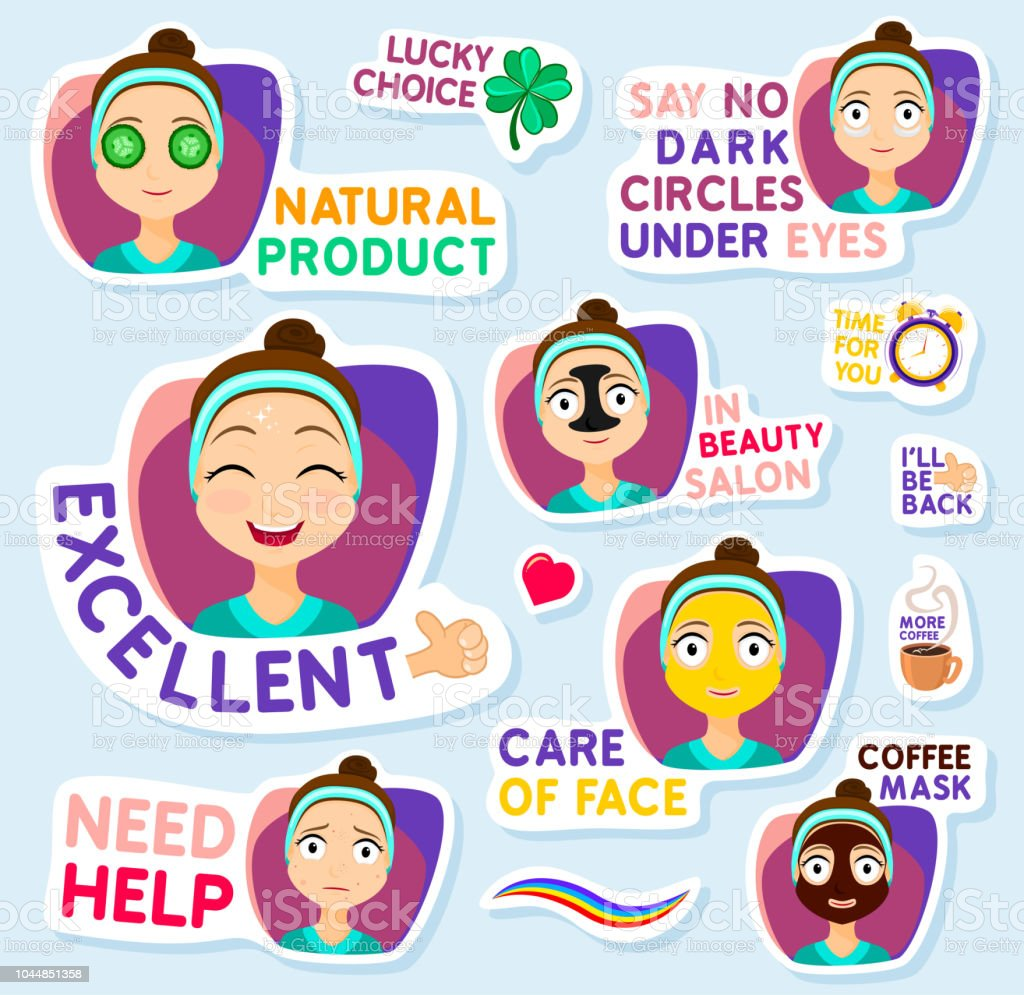 Collection Of Stickers For Chat Or Sms Cute Girl Stickers