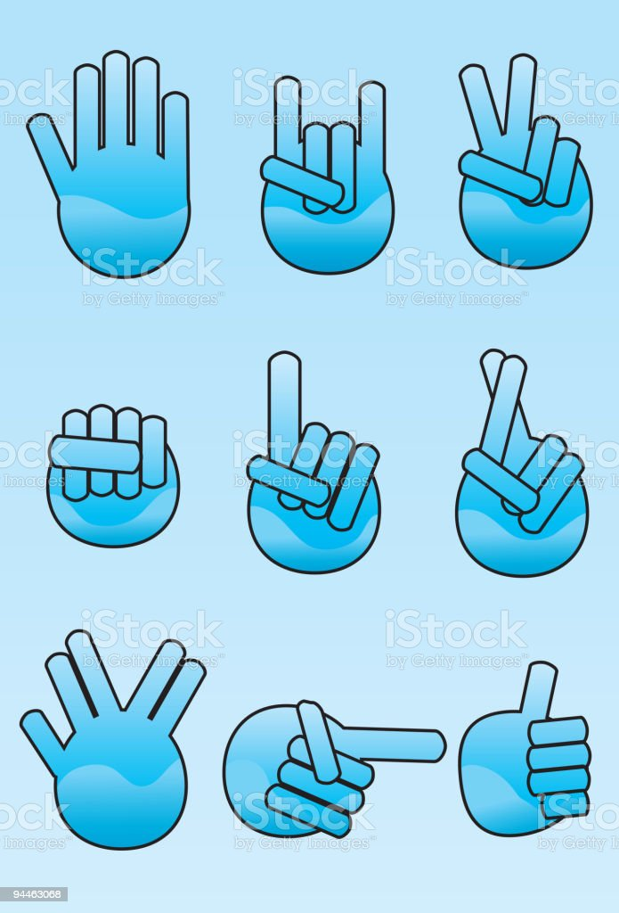 Collection of stylized hand icons royalty-free collection of stylized hand icons stock vector art & more images of color gradient