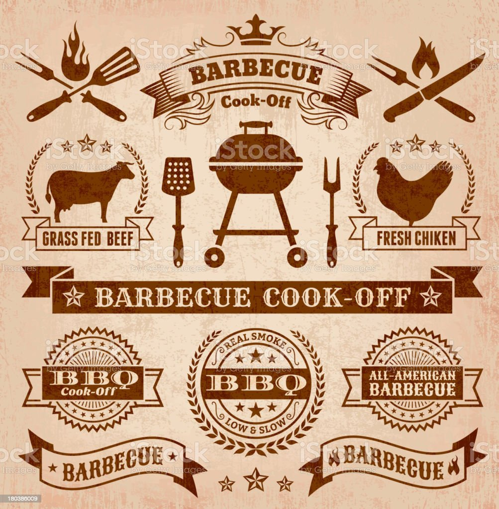 Collection of summer barbecue images royalty-free collection of summer barbecue images stock vector art & more images of advertisement