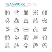 istock Collection of teamwork related line icons. 48x48 Pixel Perfect. Editable stroke 1182587488