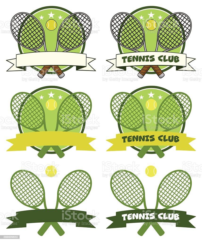 Vetores De Collection Of Tennis Logo 1 E Mais Imagens De Bola Istock