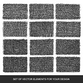 Collection of textures, brushes, graphics, design element. Hand-drawn. Abstract background. Modernistic Art.