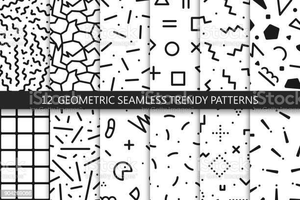 Collection of trendy seamless patterns fashion 8090s black and white vector id904269086?b=1&k=6&m=904269086&s=612x612&h=1o9rdn6jhe mrlyopzollfhuy7ewfhtynzfuxy3bbka=