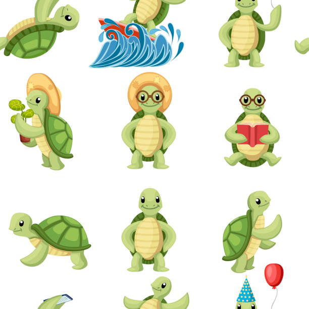 70 Cartoon Turtles With Glasses Illustrations Royalty Free Vector