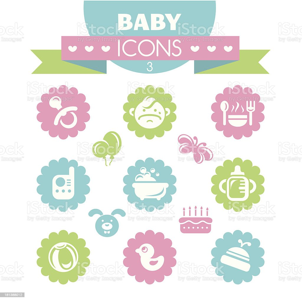collection of universal baby icons royalty-free stock vector art