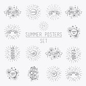 Collection of universal summer posters