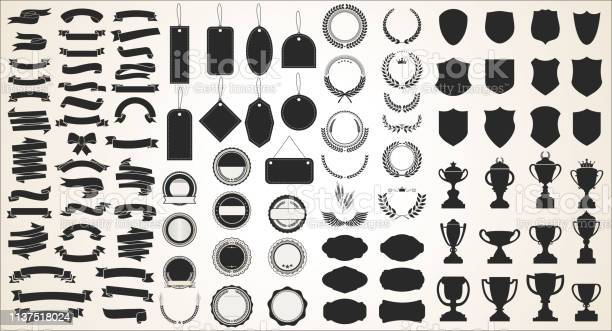 Collection of various black ribbons tags laurels shields and trophies vector id1137518024?b=1&k=6&m=1137518024&s=612x612&h=8iqm45fjqxpcqabd7jkr1opkgkmgbw0roaad5mxablc=