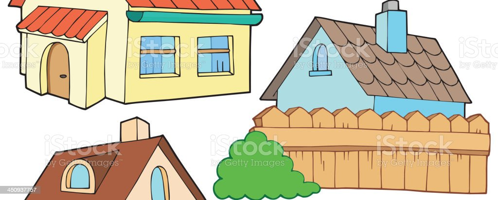 Collection of various houses royalty-free stock vector art