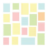 Collection of various note papers for your message