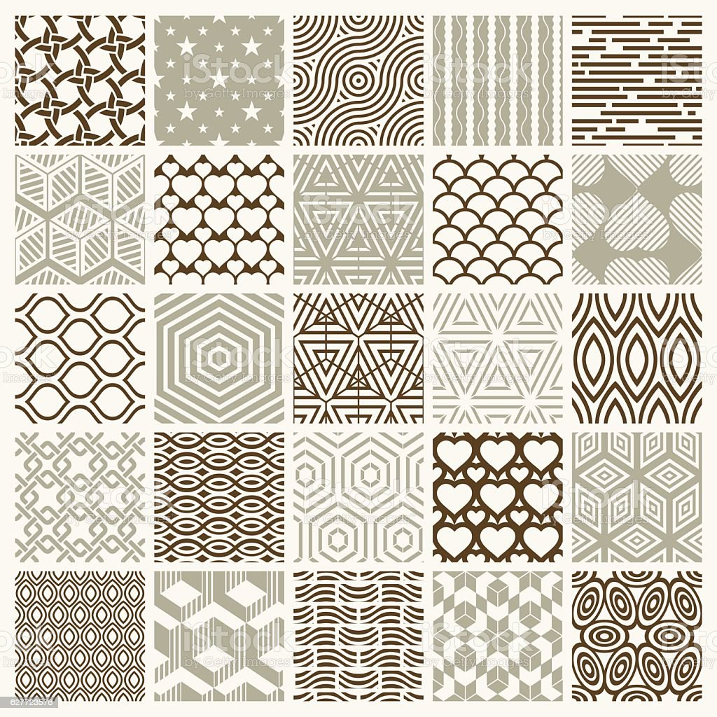 Collection of vector abstract seamless compositions best for use vector art illustration