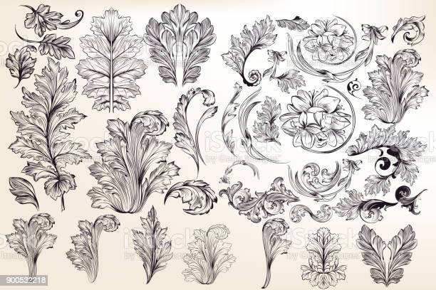 Collection of vector decorative floral elements in vintage style vector id900532218?b=1&k=6&m=900532218&s=612x612&h=qnaicvcszltvqjst3qfkunaw1lzilwkcy 9xkbqosrk=