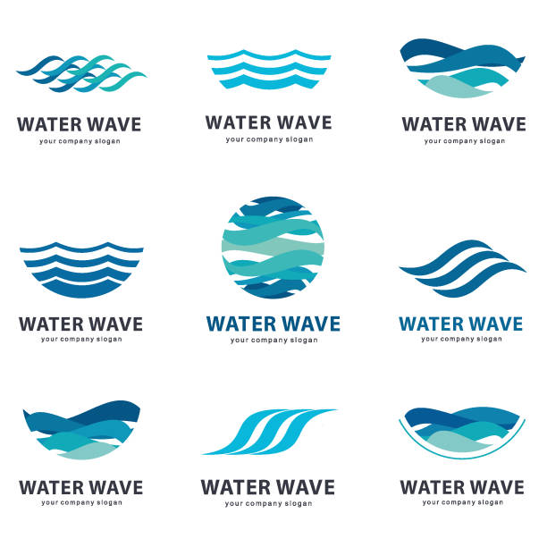 Collection of vector elements for water. Collection of vector elements for water. wave water stock illustrations