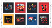 A collection of vector illustrations for American basketball. Motivation quotes, slogan, grunge. Sport fashion print for t-shirt, text: born to win, play to win.