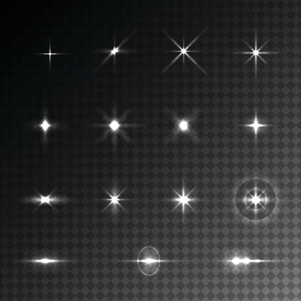 collection of vector light effects. - glowing stock illustrations