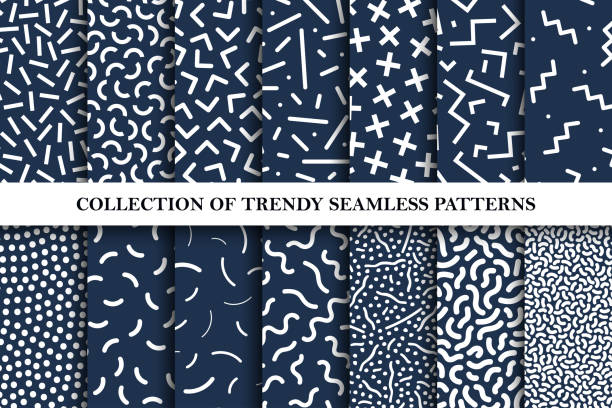 Collection of vector patterns. Fashion 80-90s. Collection of vector patterns. Fashion 80-90s. collection stock illustrations