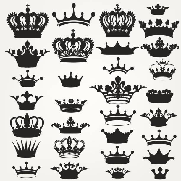 向量皇家冠為設計的集合 - 皇冠 頭飾 幅插畫檔、美工圖案、卡通及圖標