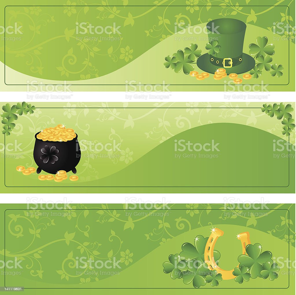 collection of vector Saint Patrick's day frames royalty-free stock vector art