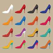 collection of vector shoes