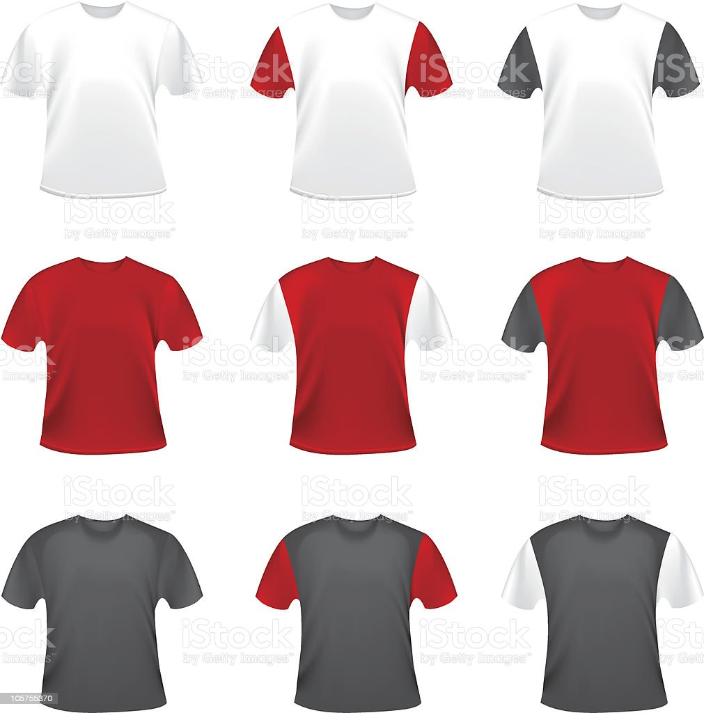 Collection of vector t-shirts vector art illustration