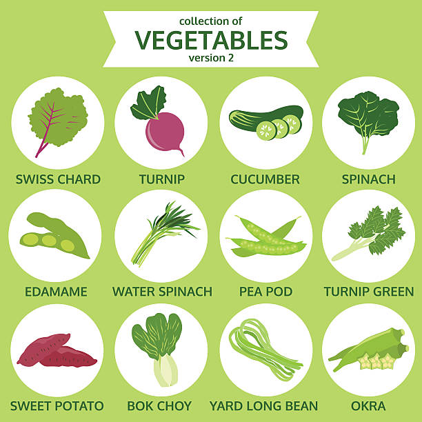 コレクションの野菜料理、ベクトルイラストアイコンセット 2 個 - 枝豆点のイラスト素材/クリップアート素材/マンガ素材/アイコン素材