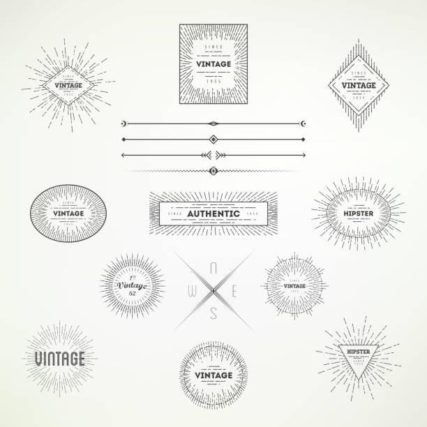 為您的設計收集復古抽象 decoative 元素。 - 時尚人 幅插畫檔、美工圖案、卡通及圖標