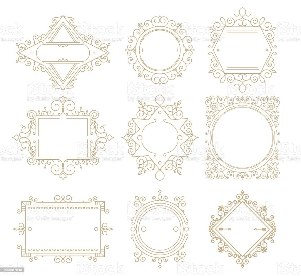 Collection Of Vintage Classic Frames Stock Vector Art & More Images ...