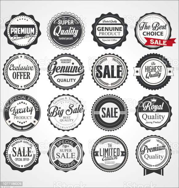 Collection of vintage retro premium quality badges and labels vector id1077186326?b=1&k=6&m=1077186326&s=612x612&h=ppghhfuwmibgjwzjgw3olvgkhlwok78shxttrtfepoa=