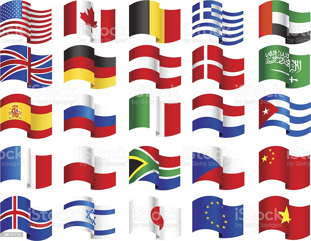 A collection of waving world flags royalty-free a collection of waving world flags stock vector art & more images of all european flags