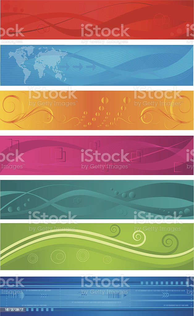 Collection of web banners royalty-free stock vector art