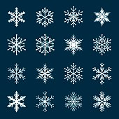 Collection of White Snowflakes.