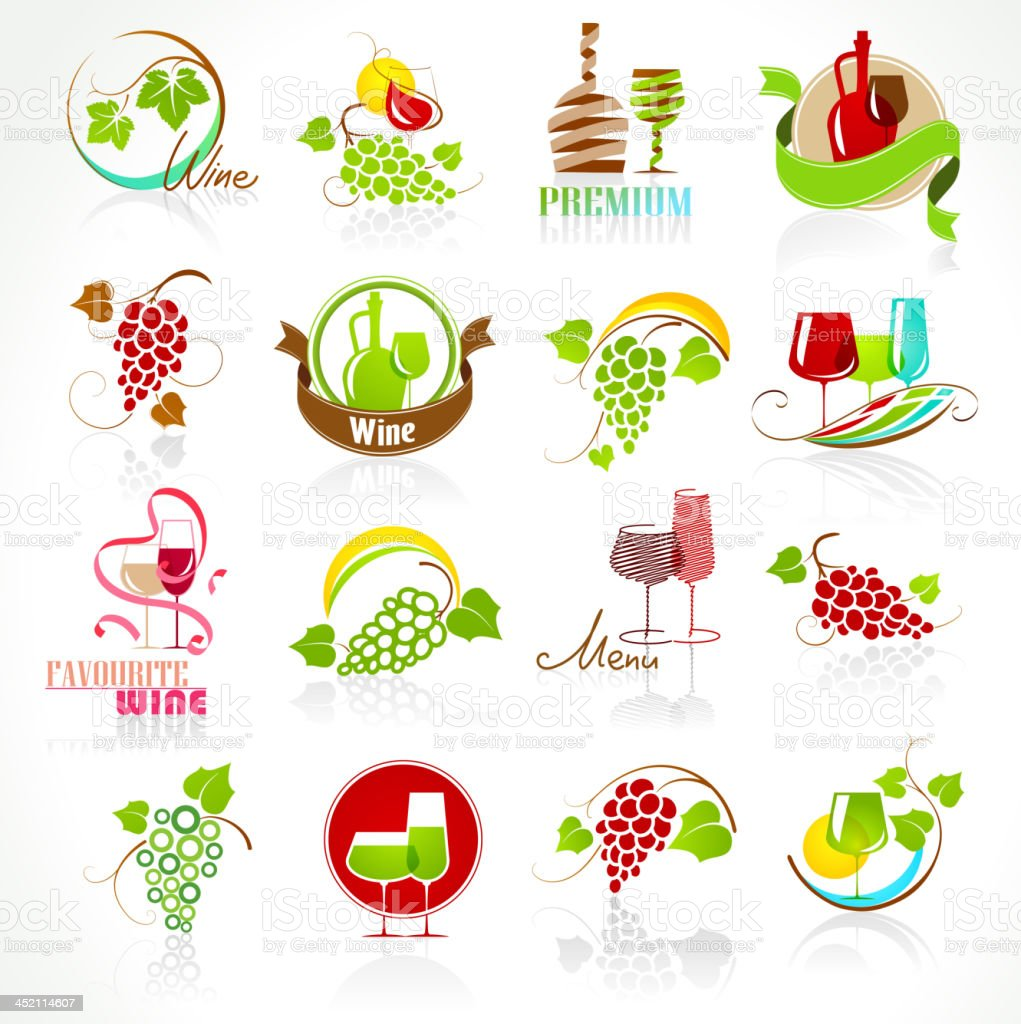 Collection of wine icons royalty-free collection of wine icons stock vector art & more images of backgrounds