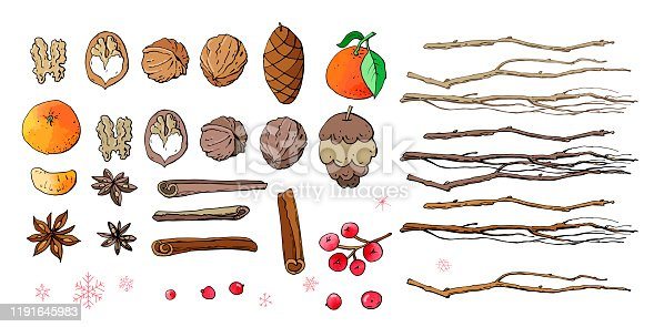 Can be used for prints, posters, cards, logo, decorations. Hand drawn elements.