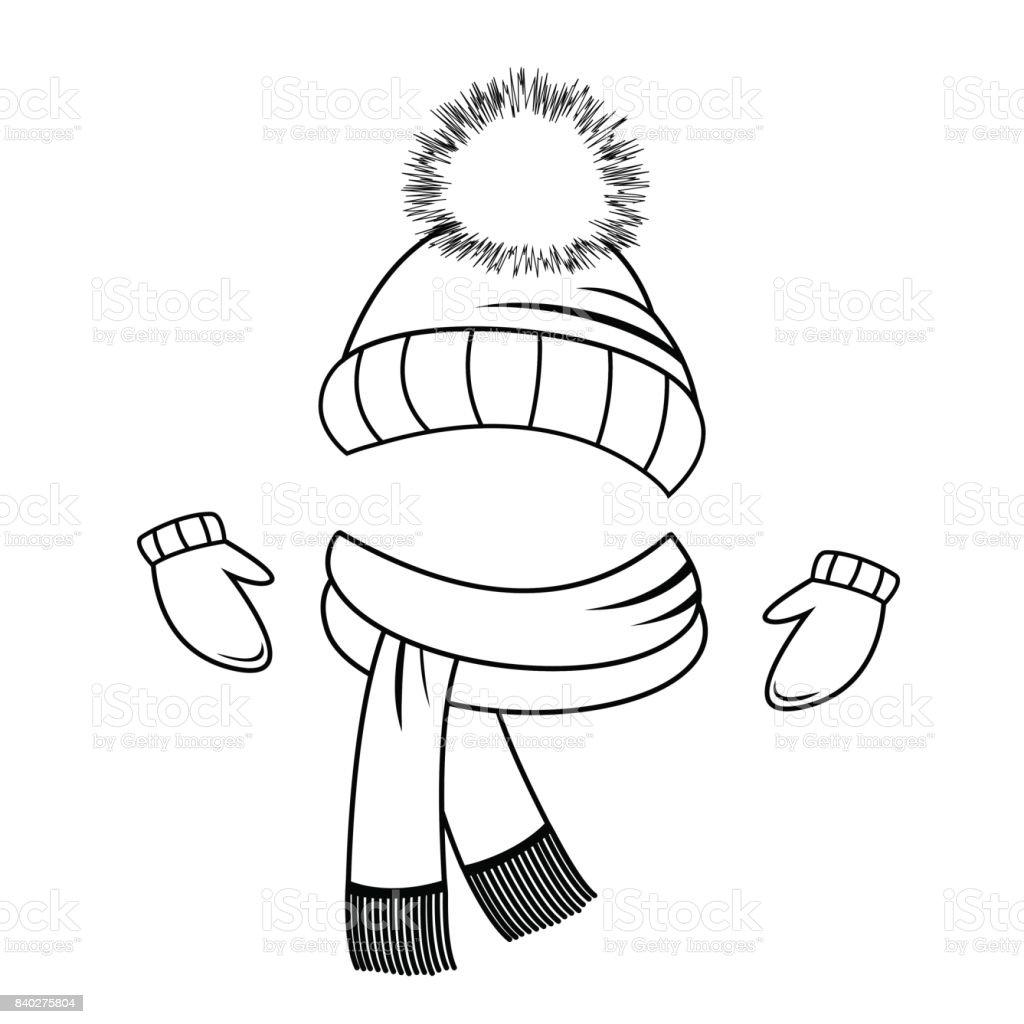 Collection De Vêtements Dhiver Bonnet écharpe Et Moufles