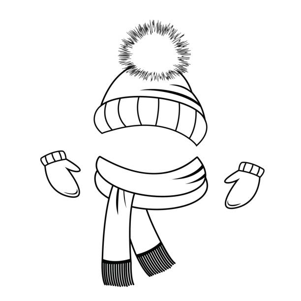 Royalty Free Knitted Scarf Clip Art, Vector Images