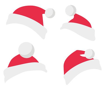 Collection of Winter Fur Woolen Santa Claus Hat.