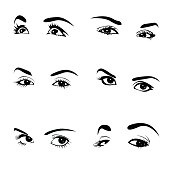 Collection of woman eyes
