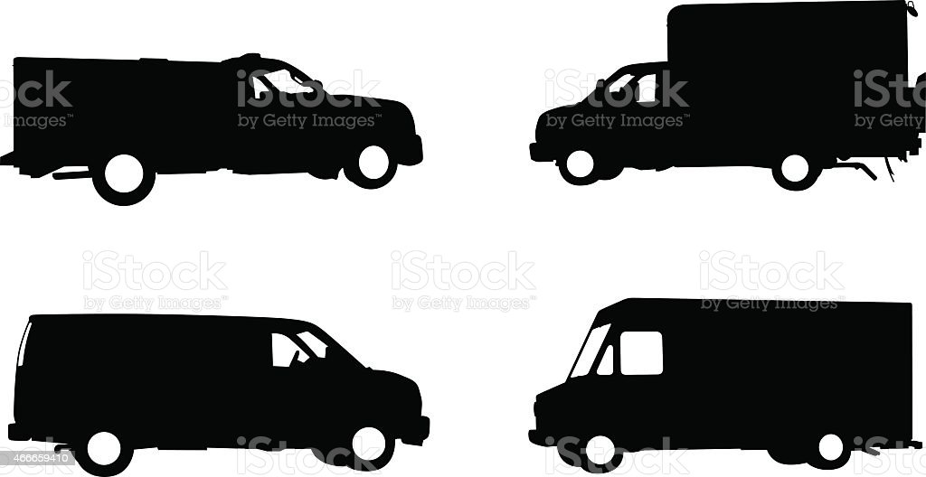 Collection Of Work Trucks And Service Vehicles Stock Vector Art ...