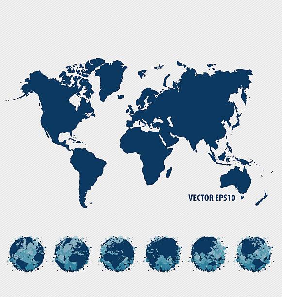 Sammlung von Welt-Karte und modernen Welt.  Vektor-Illustration. – Vektorgrafik