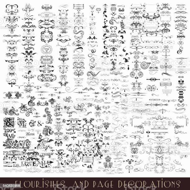 Collection or mega set of vector decorative flourishes and vector id540835958?b=1&k=6&m=540835958&s=612x612&h=ctefi3oztzhs667zpbdn1m4qvjzqtiy608eofc9vrc4=
