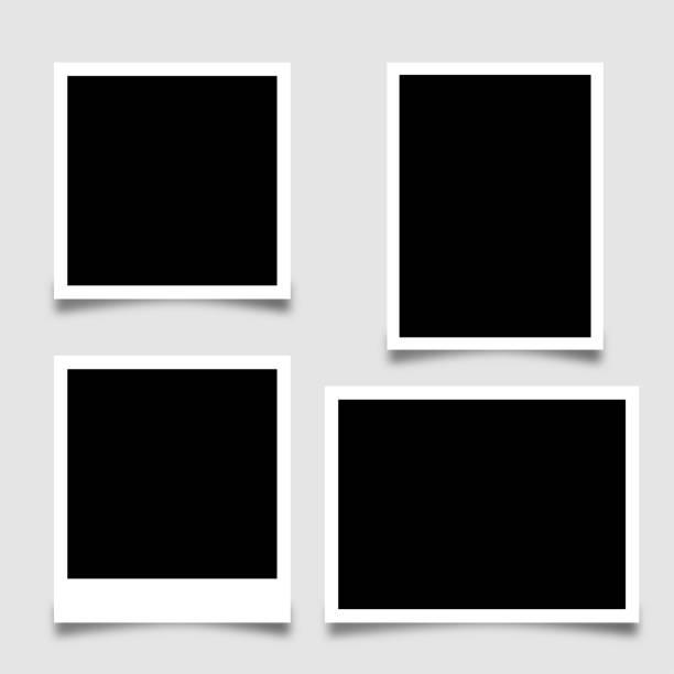 Collection photo frame - stock vector Collection photo frame - stock vector polaroid frame stock illustrations