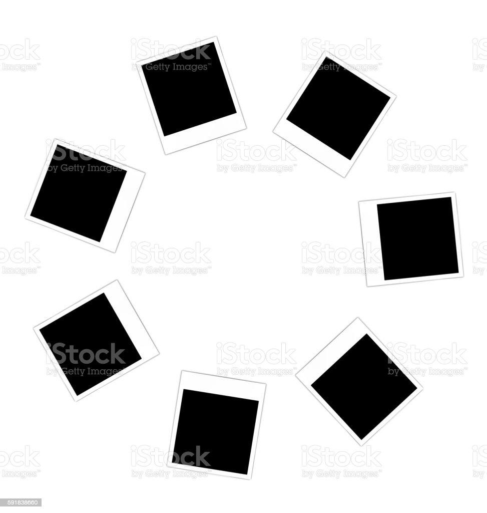 Collection photo frame vector art illustration